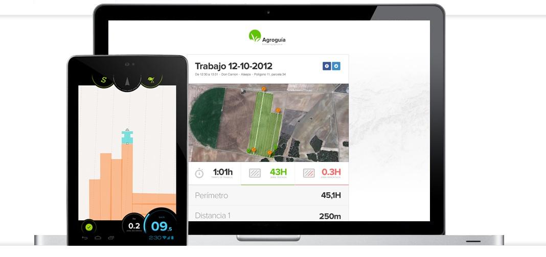 agroguia, imagen del sistema de guiado y los informes online